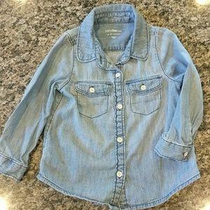 BABY GAP denim button up shirt!